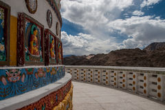 Shanti Stupa Closeup Fotografie Stock Libere da Diritti