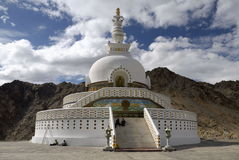 Shanti Stupa em Leh, Ladakh Fotografia de Stock Royalty Free