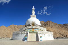 Shanti Stupa (Ladakh) fotografia de stock