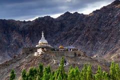 Shanti Stupa, Ladakh, Jammu and Kashmir, India Stock Image