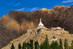 Shanti Stupa, Ladakh, Jammu and Kashmir, India Stock Photography