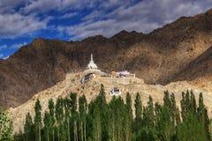 Shanti Stupa, Ladakh, Jammu and Kashmir, India Royalty Free Stock Photo