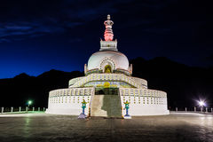 Shanti Stupa, Leh, India. Royalty Free Stock Photo