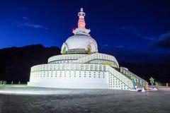 Shanti Stupa, Leh, India. Stock Images