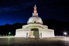 Shanti Stupa Leh, Indien Royaltyfri Foto