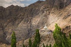 Shanti Stupa, Leh Ladakh Στοκ φωτογραφία με δικαίωμα ελεύθερης χρήσης