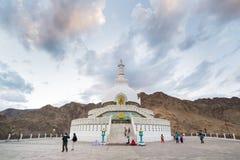 Shanti Stupa, Leh Ladakh Στοκ Φωτογραφίες