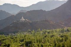 Shanti Stupa, Leh Ladakh Imágenes de archivo libres de regalías
