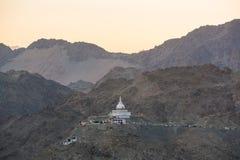 Shanti Stupa, Leh Ladakh Foto de archivo libre de regalías