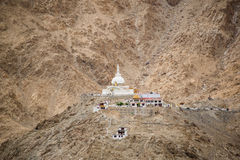 Shanti Stupa,Leh Ladakh. Shanti Stupa is a Buddhist white-domed stupa on a hilltop in Chanspa, Leh district, Ladakh, in the north Indian state of Jammu and Royalty Free Stock Photography