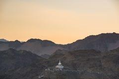 Shanti Stupa,Leh Ladakh. Royalty Free Stock Images