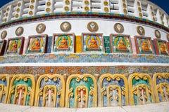 Shanti Stupa in Leh, Ladakh, India Immagine Stock
