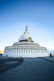Shanti Stupa, Leh, Ladakh, India Stock Photography