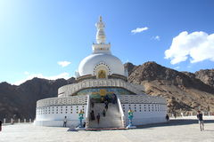 Shanti Stupa, Leh, Ladakh, India. Royalty Free Stock Photos