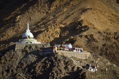 Shanti Stupa, Leh, Ladakh, Indien Royaltyfria Bilder