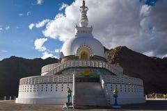 Shanti Stupa, Leh, Ladakh, la India Fotografía de archivo libre de regalías