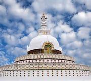 Shanti Stupa in Leh, Ladakh, North India Royalty Free Stock Photos