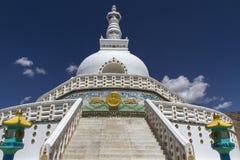 Shanti Stupa near Leh, Ladakh, India Royalty Free Stock Image