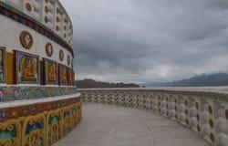 Shanti Stupa Passage fotografía de archivo libre de regalías