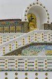 Shanti Stupa Passage Immagini Stock