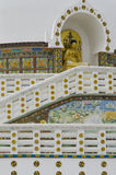 Shanti Stupa Passage imagenes de archivo