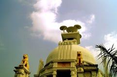 Shanti stupa: peace pagoda dedicated to lord Buddha Royalty Free Stock Photo