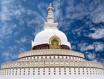 Shanti Stupa in Leh, Jammu and Kashmir state, India Stock Photo