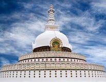 Shanti Stupa Peace Pagoda in Leh, Jammu and Kashmir state, Ind Stock Image