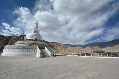 Shanti stupa w Leh, India Zdjęcie Stock