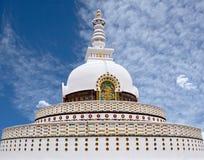 Shanti stupa w Leh, Jammu i Kaszmir stanie, Ind obrazy stock