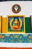 shanti stupy bystry malowali white buddyjscy odznaczony indu ladakh leh pomnikowi malowidła ścienne Obraz Stock