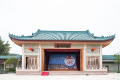 Shantou, China-October 21,2017: The Chinese building style for C. Hinese opera Royalty Free Stock Photo