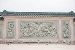 Shantou, China-octubre 21,2017: El estilo chino del edificio, foto de archivo