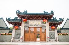 Shantou, China-octubre 21,2017: El estilo chino del edificio fotografía de archivo