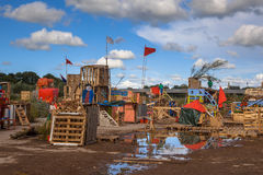 Shanty building festival Royalty Free Stock Images