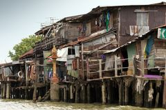 Shanty house in Bangkok Stock Photos