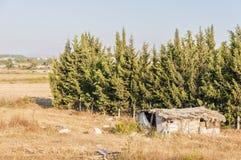 Shanty House rural abandonné Images libres de droits