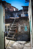 Shanty with ladder in urban district for poor  Yerevan, Armenia Royalty Free Stock Photo