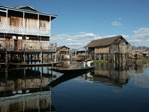 Shanty on the lake Royalty Free Stock Images