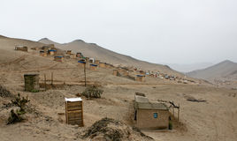 Shanty Town in  Lima Royalty Free Stock Images