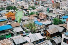 Shanty town in Mandalay. Shanty town in Mandalay, Myanmar Royalty Free Stock Images