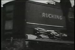 Shanty town, 1930s stock video