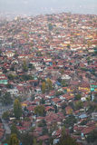 Shanty town. Very large shanty town in an old district of Ankara Royalty Free Stock Images