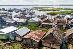 Shantytown in Iquitos. IQUITOS, PERU - JULY 20, 2015 Shantytown in Iquitos Peru royalty free stock photos
