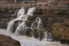 Shanxi, Κίνα - ο κίτρινος καταρράκτης Hukou ποταμών στοκ φωτογραφία με δικαίωμα ελεύθερης χρήσης