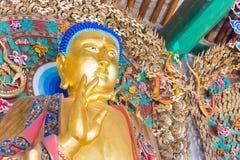 SHANXI, ΚΊΝΑ - 07 του Σεπτεμβρίου 2015: Αγάλματα Budda στο ναό Wubian Α Στοκ εικόνα με δικαίωμα ελεύθερης χρήσης