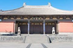 SHANXI, ΚΊΝΑ - 25 του Σεπτεμβρίου 2015: Ναός Huayan διάσημος ένας ιστορικός στοκ εικόνα με δικαίωμα ελεύθερης χρήσης