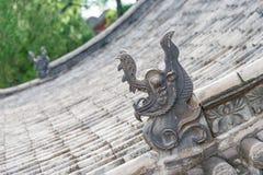 SHANXI, ΚΊΝΑ - 13 του Σεπτεμβρίου 2015: Στέγη στον προγονικό ναό Dou Dafu στοκ φωτογραφία με δικαίωμα ελεύθερης χρήσης