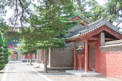 SHANXI, CHINA - Aug 24 2015: Changping Guandi Temple. a famous. Historic site in Yuncheng, Shanxi, China royalty free stock photography