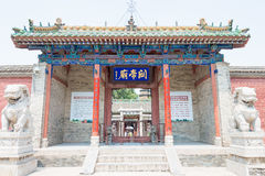 SHANXI, CHINA - Aug 24 2015: Changping Guandi Temple. a famous. Historic site in Yuncheng, Shanxi, China royalty free stock photo